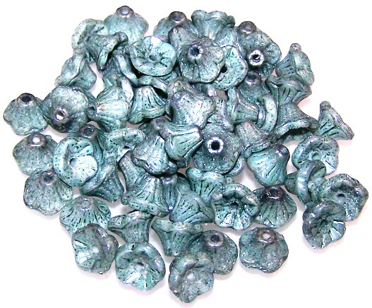 Czech Glass - 7x5mm Flower Cup Beads