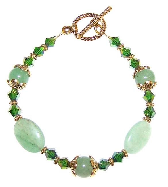 emerald elegance bracelet beaded jewelry kit