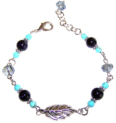 falling leaves bracelet beaded jewelry kit
