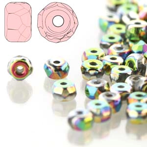 Czech Glass - 2x3mm Micro Spacer Beads