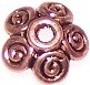 50 Antique Copper 4x10mm Scroll Work Bead Caps