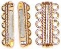 1 Gold-Plated 33x17mm Super Strong 5-Strand Magnetic Clasp