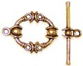 10 Antique Gold-Plated 16mm Ornate Toggle Clasps