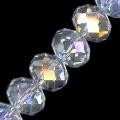 1 Dozen Crystal AB 10x8mm Glass Crystal Rondelles