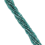 1 Strand of 2.5x1.5mm Glass Crystal Mini Rondelle Beads - Caribbean