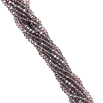 1 Strand of 3x2mm Glass Crystal Rondelle Beads - Amethyst