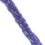 1 Strand of 3x2mm Glass Crystal Rondelle Beads - Cobalt Blue