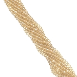 1 Strand of 3x2mm Glass Crystal Rondelle Beads - Medium Champagne