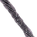 1 Strand of 3x2mm Glass Crystal Rondelle Beads - Plum