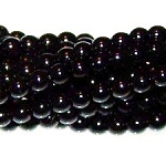 1 Strand of Czech Glass 3mm Pearl Beads - Black