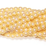 1 Strand of Czech Glass 3mm Pearl Beads - Light Peach