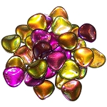 10 Czech Glass 14x13mm Petals - Crystal Magic Orchid