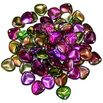 40 Czech Glass 8x7mm Petals - Crystal Magic Orchid