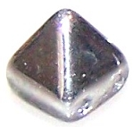 10 Pyramid 6mm Stud Beads - CRYSTAL LABRADOR