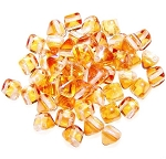10 Pyramid 6mm Stud Beads - CRYSTAL APRICOT