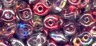 7.5 Grams - Superduo Beads - CRYSTAL MAGIC RED-BROWN