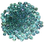 7.5 Grams - Superduo Beads - Aqua Clarit