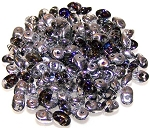 7.5 Grams - Superduo Beads - Crystal Heliotrope