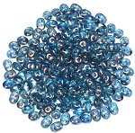 7.5 Grams - Superduo Beads - Halo Celestial Blue