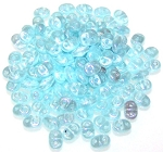 7.5 Grams - Superduo Beads - Luster Milky Aquamarine