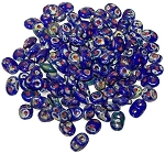 7.5 Grams - Superduo Beads - Opaque Blue Picasso