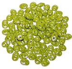 7.5 Grams - Superduo Beads - Luster Opaque Olive