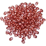 7.5 Grams - Superduo Beads - Crystal Bronze Fire Red