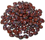 7.5 Grams - Superduo Beads - Picasso Umber