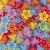 Assorted Style #3 Flower Beads - 1/2 oz ~ 140 Beads
