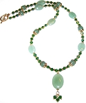 Emerald Elegance Beaded Jewelry Making Set