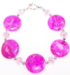 Wild For Pink Bracelet Beaded Jewelry Making Kit