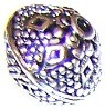 2 Antique Silver-Plated 15mm Decorative Diamond Metal Beads