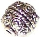 10 Antique Silver-Plated 9x11mm Spiked Round Metal Beads