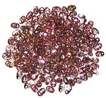 7.5 Grams of MiniDuo Czech Glass Beads - Crystal Capri Gold