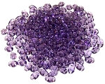 7.5 Grams of MiniDuo Czech Glass Beads - Light Tanzanite