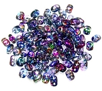 7.5 Grams of MiniDuo Czech Glass Beads - Magic Blue Pink
