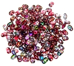7.5 Grams of MiniDuo Czech Glass Beads - Magic Red Brown