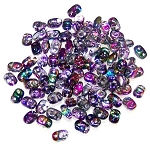 7.5 Grams of MiniDuo Czech Glass Beads - Crystal Magic Violet Grey
