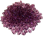 7.5 Grams of MiniDuo Czech Glass Beads - Medium Amethyst