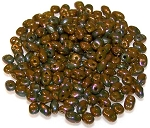 7.5 Grams of MiniDuo Czech Glass Beads - Opaque Olive Bronze Vega