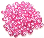 7.5 Grams of MiniDuo Czech Glass Beads - Pastel Pink