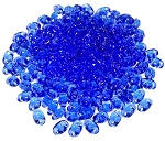 7.5 Grams of MiniDuo Czech Glass Beads - Sapphire