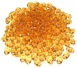 7.5 Grams of MiniDuo Czech Glass Beads - Topaz