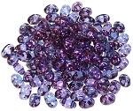 7.5 Grams of MiniDuo Czech Glass Beads - Transparent Amethyst Luster