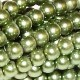 1 Strand of 4mm Glass Pearls - Fern