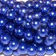 1 Strand of 4mm Glass Pearls - Galaxy Blue