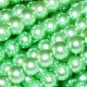 1 Strand of 4mm Glass Pearls - Green