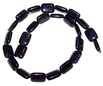 1 Strand of 12x16mm Puff Rectangle Semiprecious Gemstone Beads - Blue Goldstone