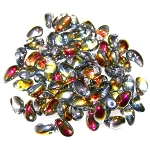 7.5 Grams of 4x6mm Czech Glass Tulip Petal Beads - Crystal Marea