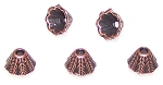 50 - 5x8mm Antique Copper Cone Bead Caps